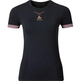 Odlo W's Ceramicool Seamless Shirt S/S Crew Neck black-fleur de lotus